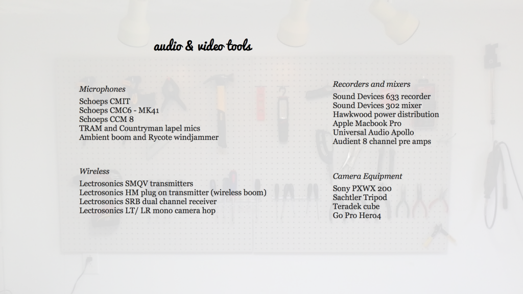 audio and video tools